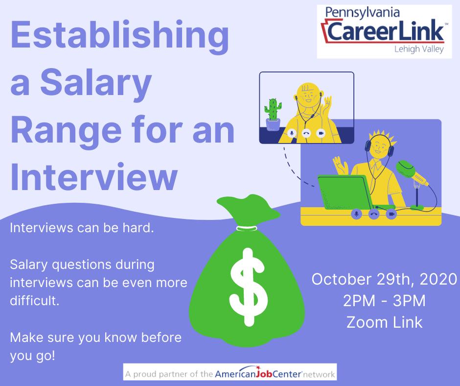 Establishing a Salary Range for an Interview