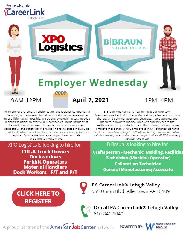 Employer Wednesday - XPO Logistics & B Braun