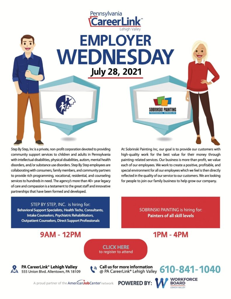 July 28 Employer Wednesday