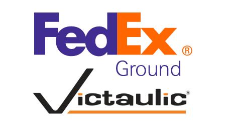 FedEx Ground and Victaulic logos