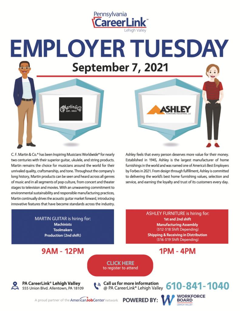 Employer Tuesday September 7 flyer