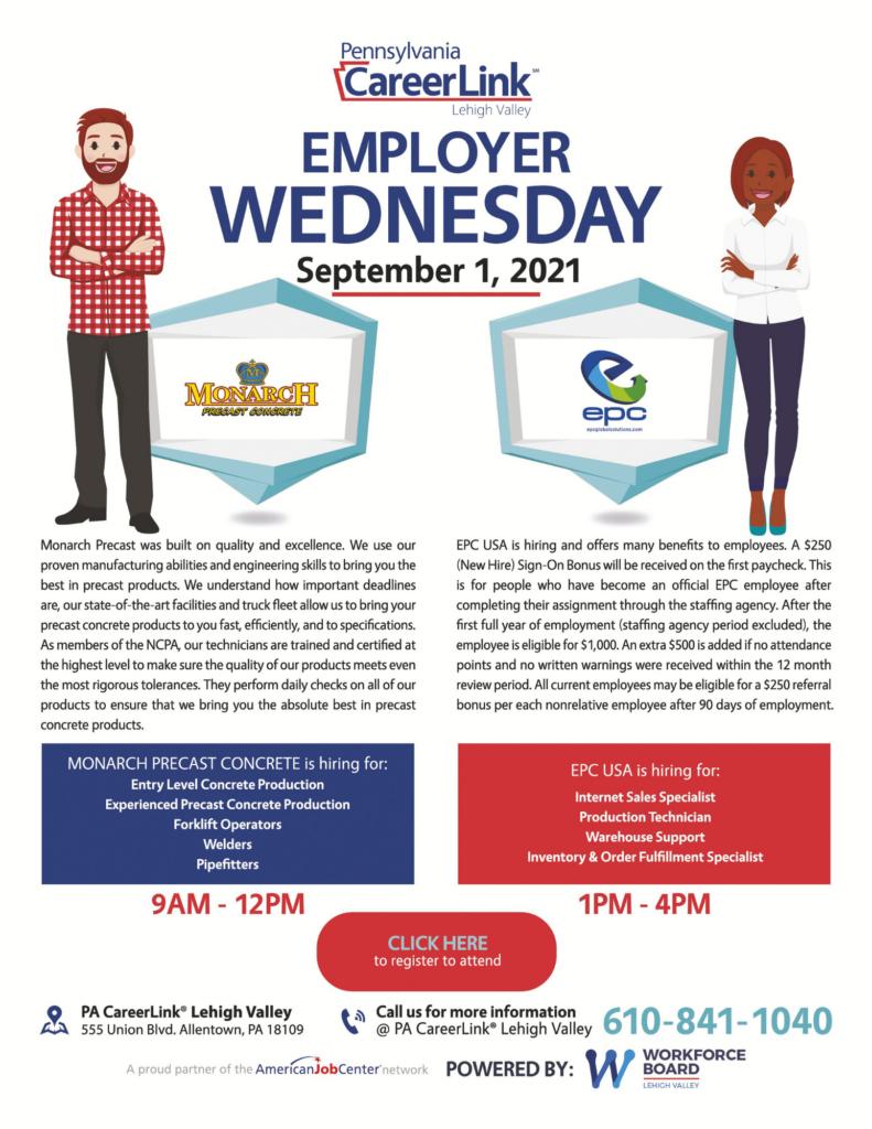 Employer Wednesday September 1 flyer