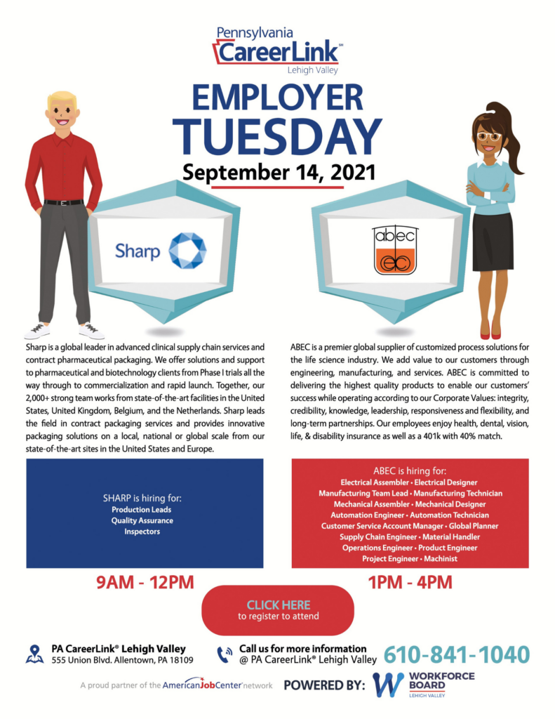September 14 Employer Tuesday flyer