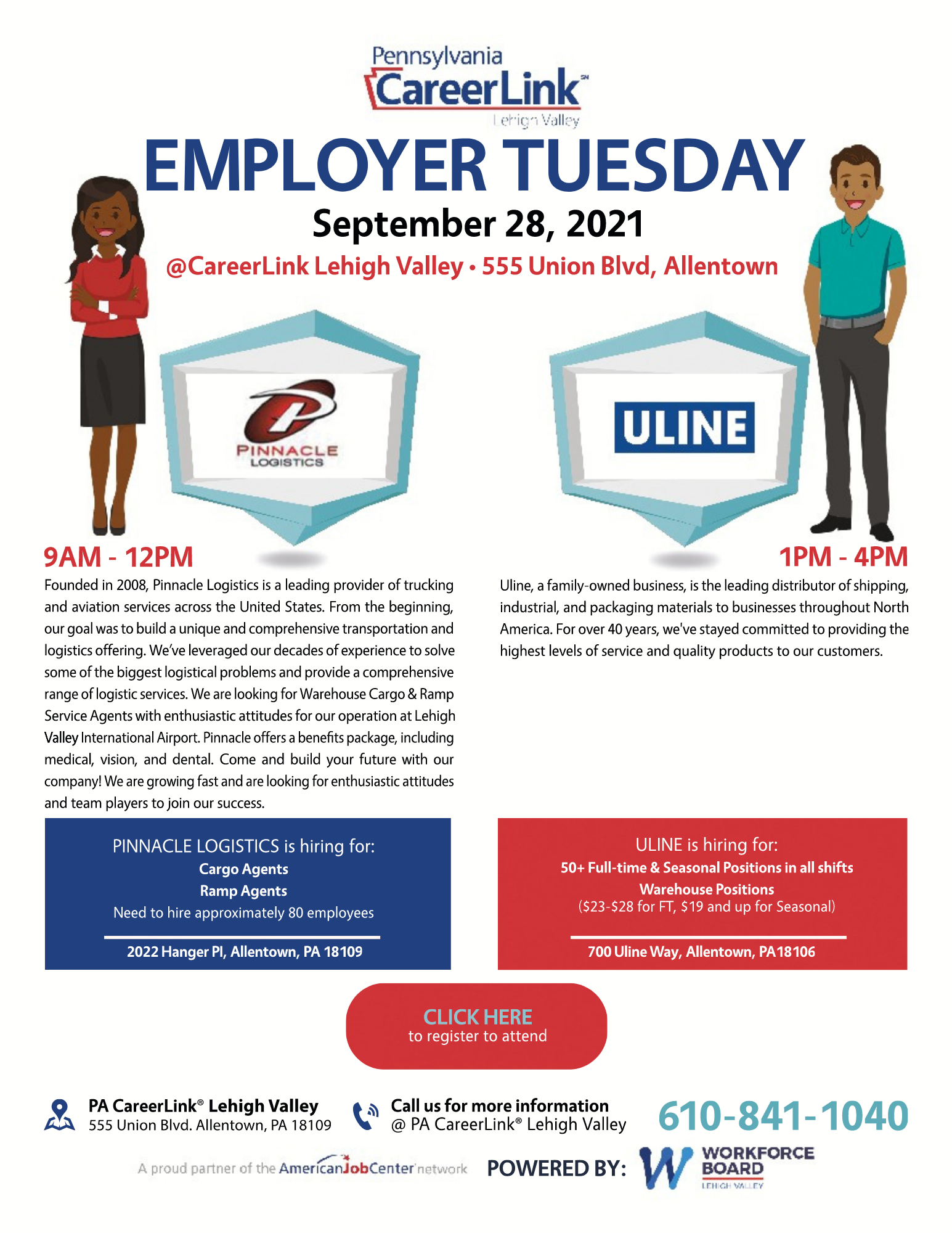 Employer Tuesday September 28 flyer