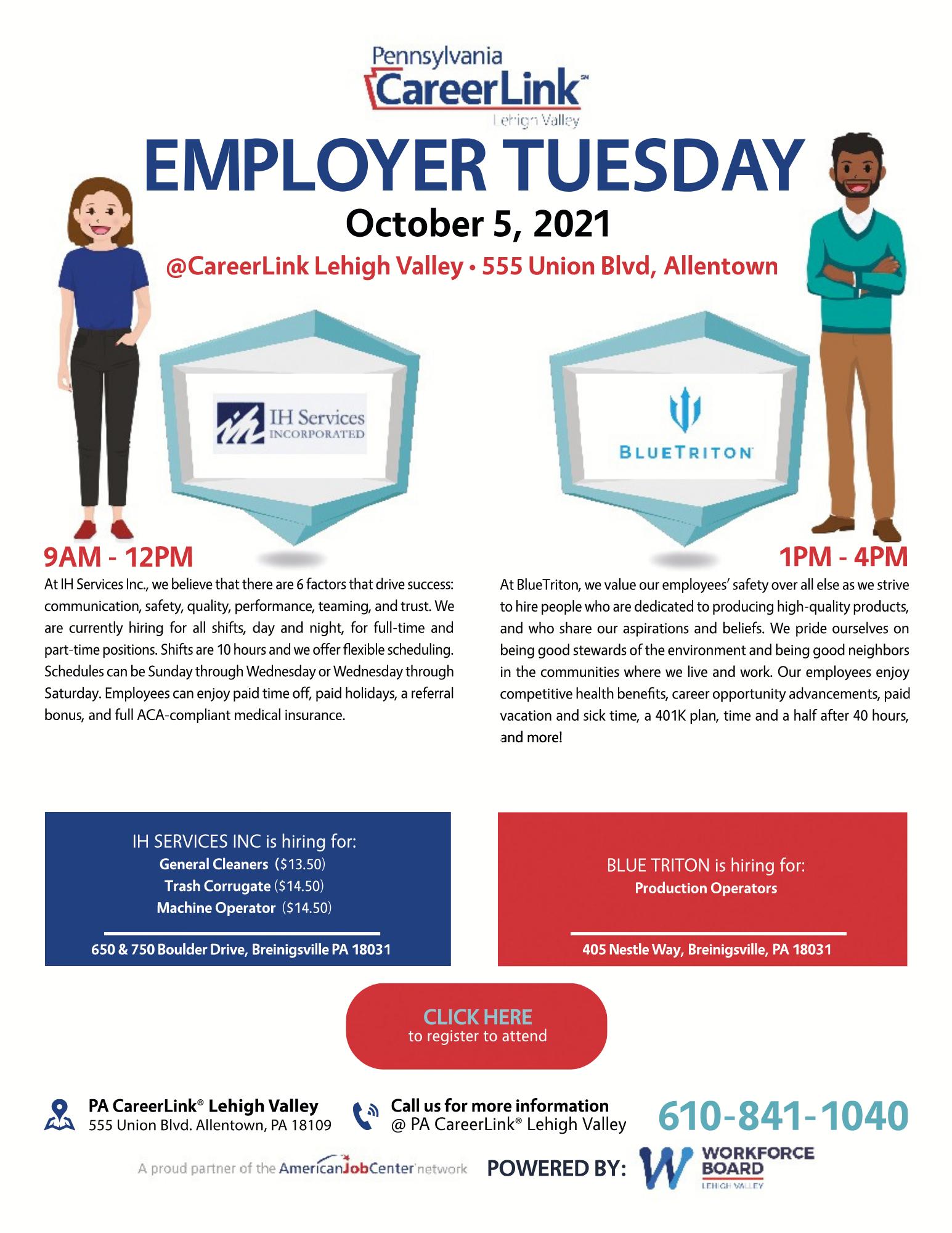 October 5 Employer Tuesday flyer