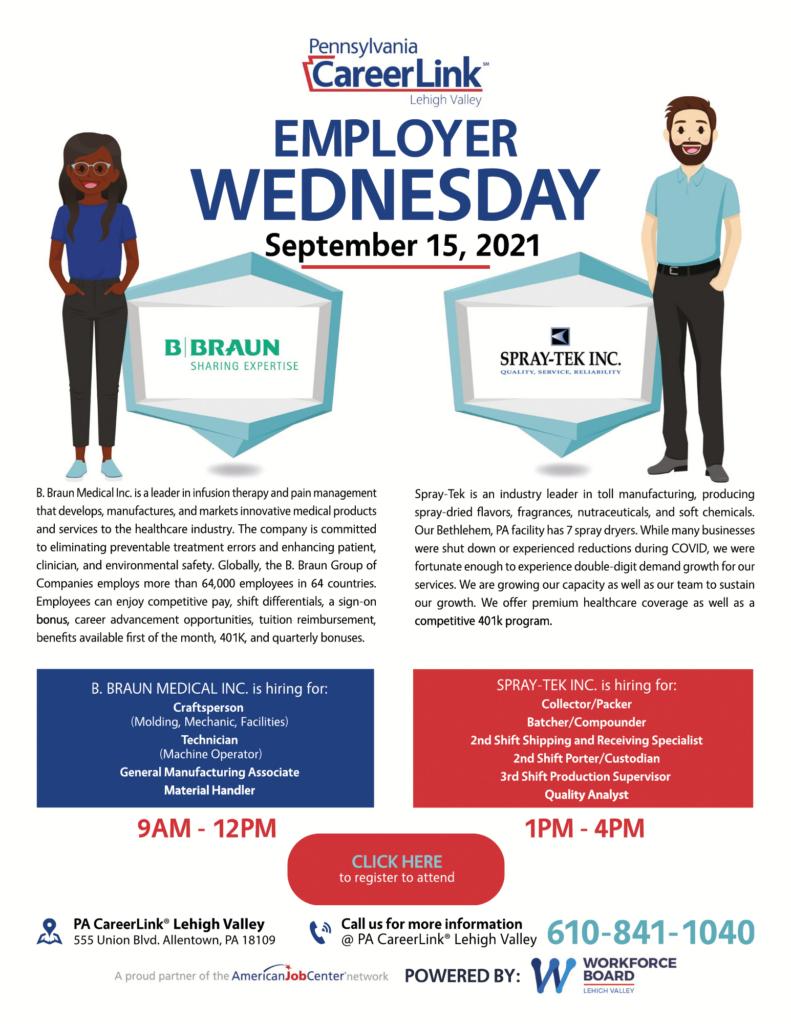 September 15 Employer Wednesday flyer