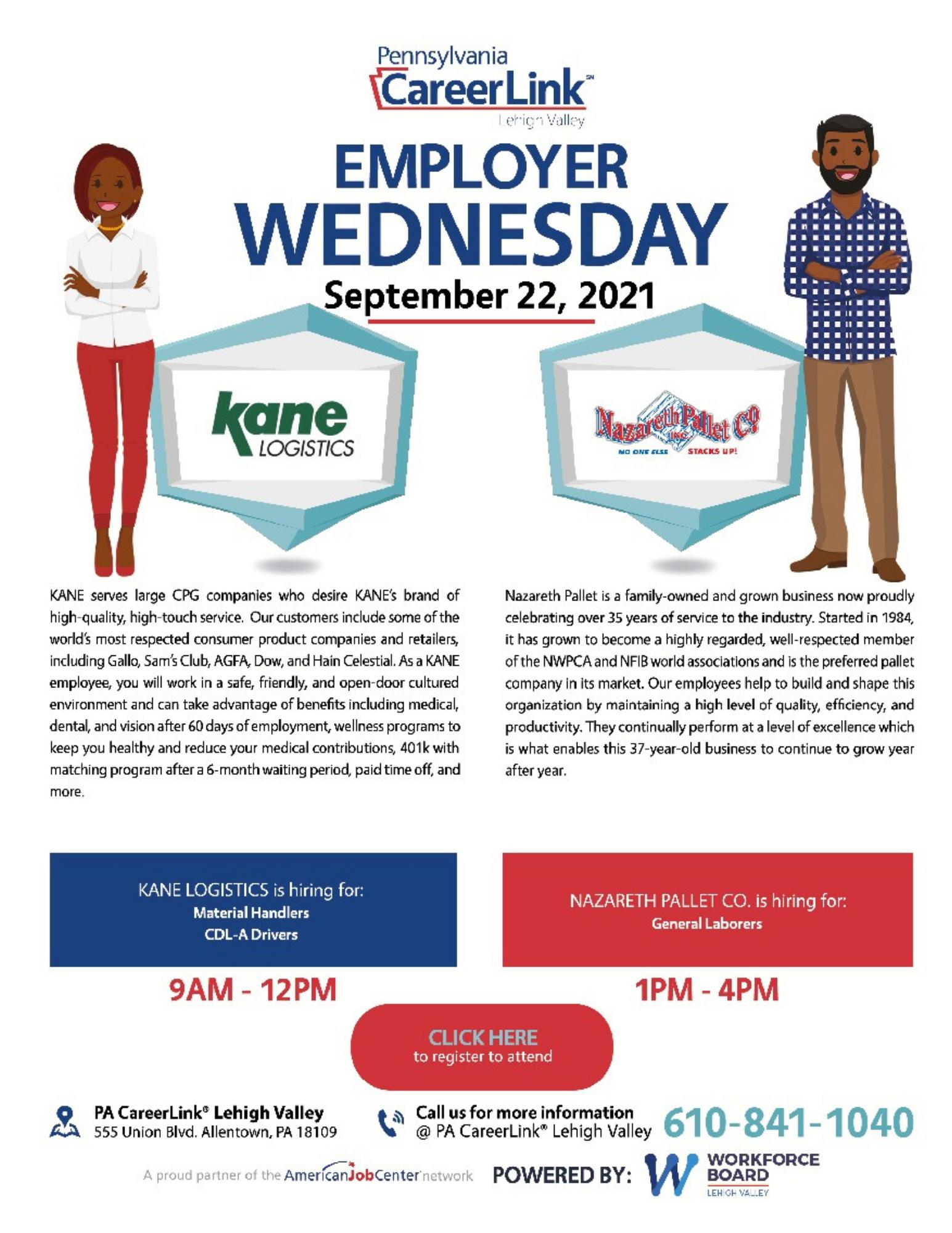 September 22 Employer Wednesday flyer