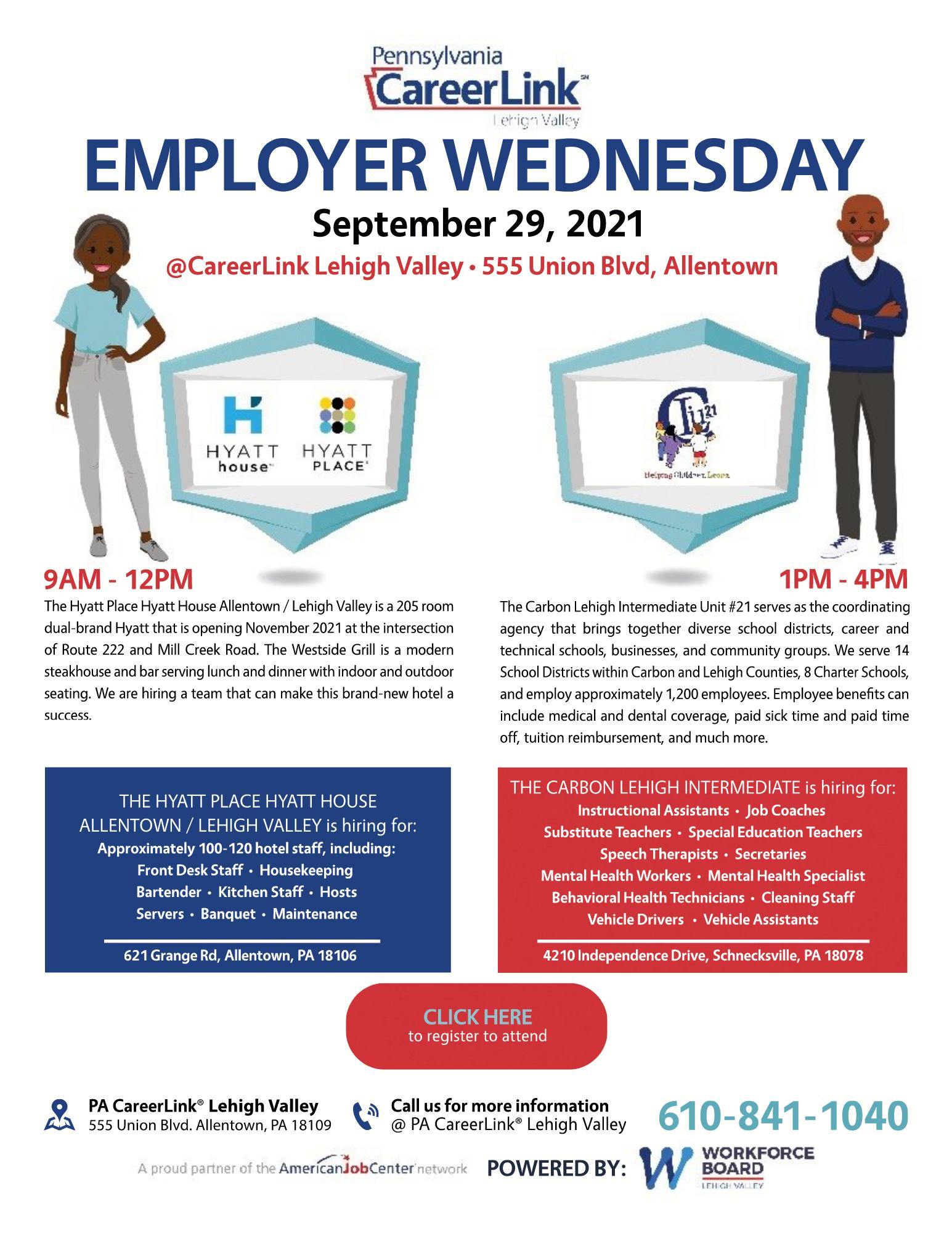 September 29 Employer Wednesday flyer