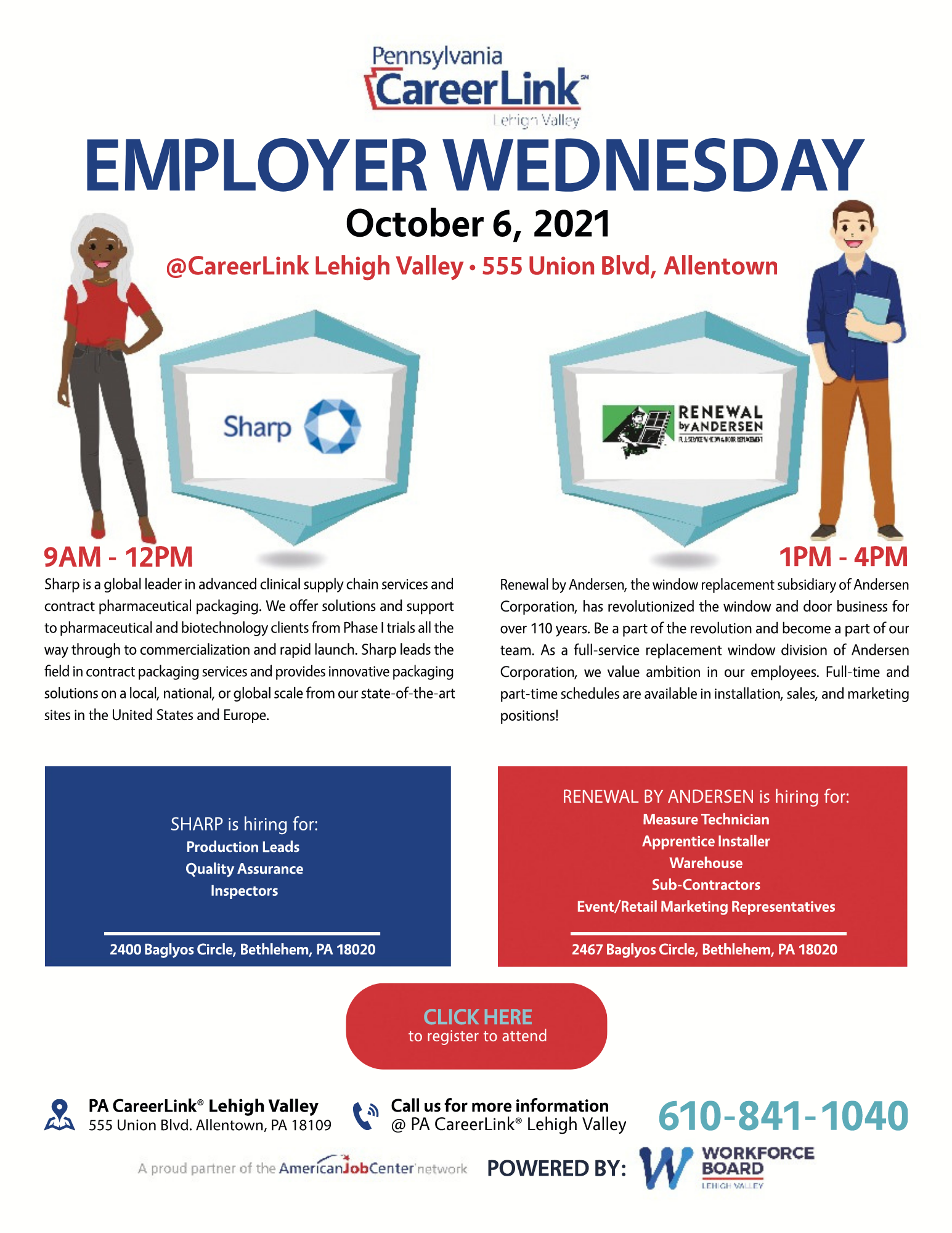 October 6 Employer Wednesday flyer