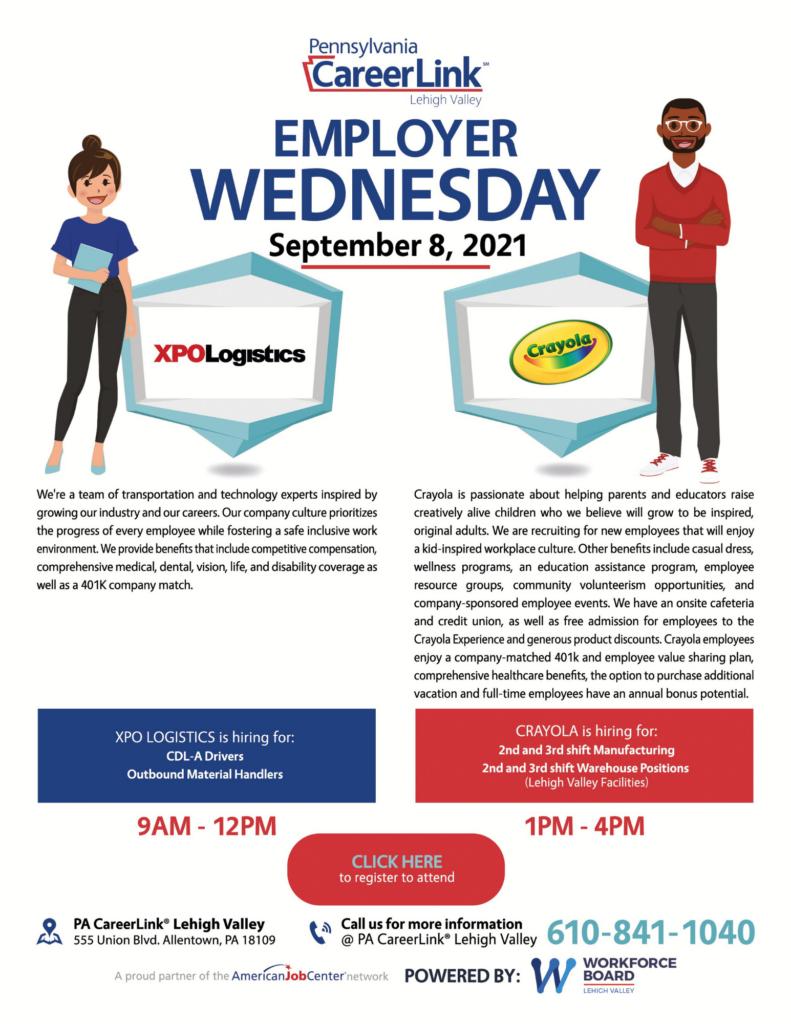 September 8 Employer Wednesday Flyer