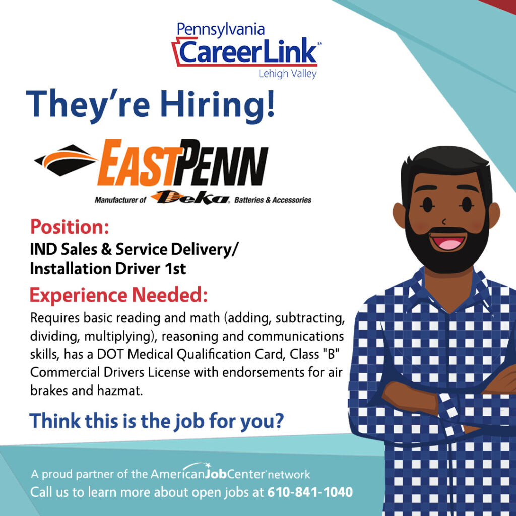 East Penn Manufacturing Job of the Day graphic