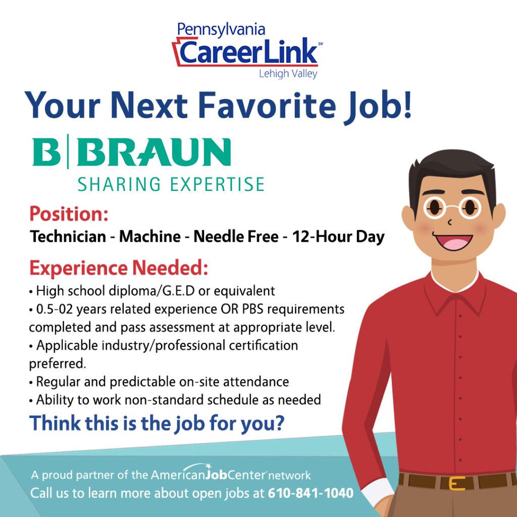 B. Braun Job of the Day Graphic