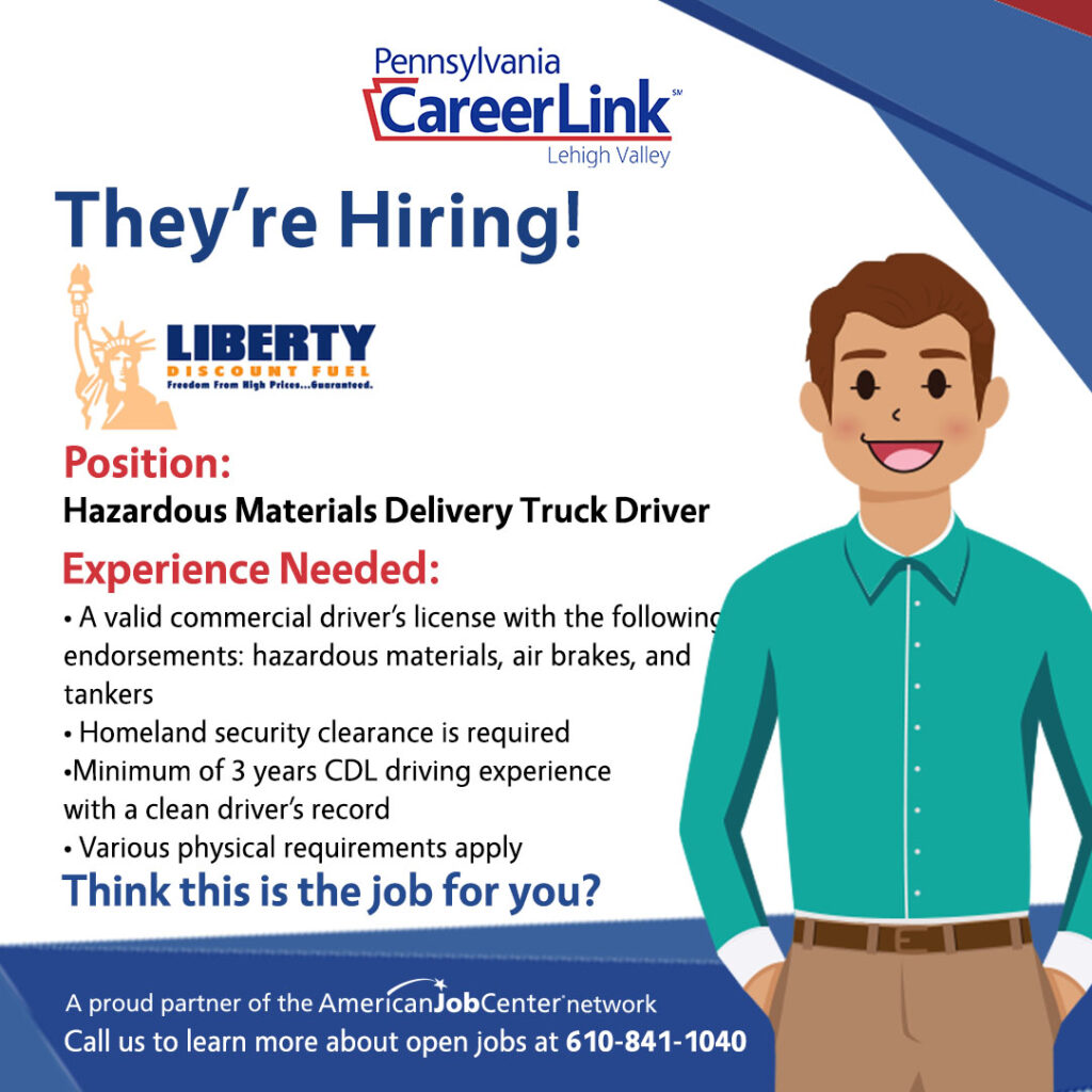 Liberty Job of the Day graphic