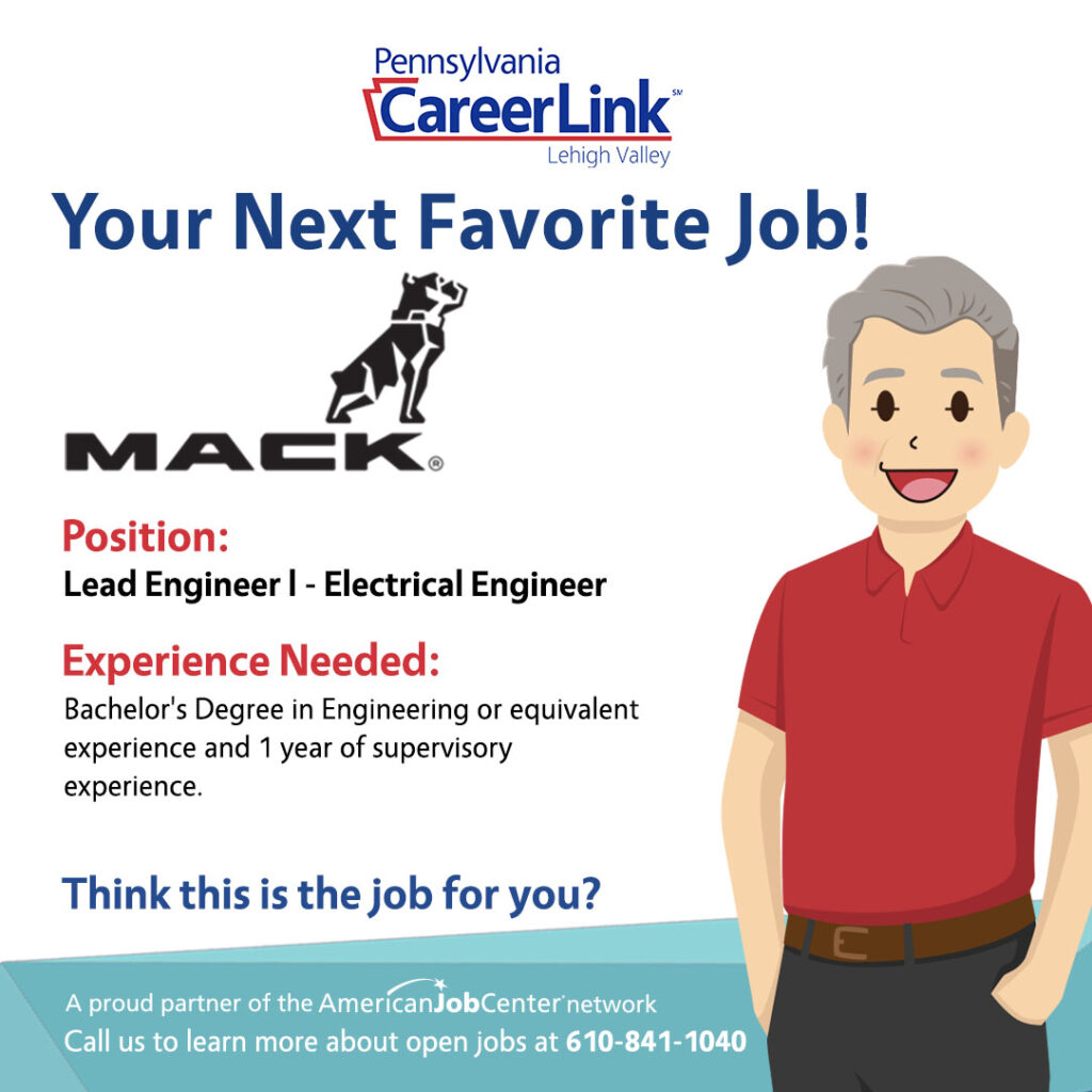 Mack job of the day flyer