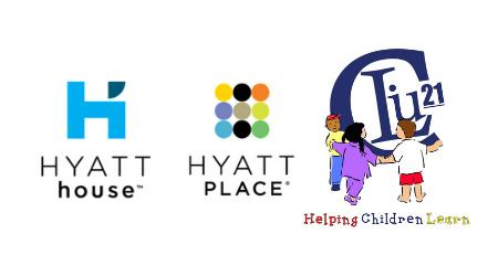 Hyatt Place Hyatt House and CLIM#21 logos
