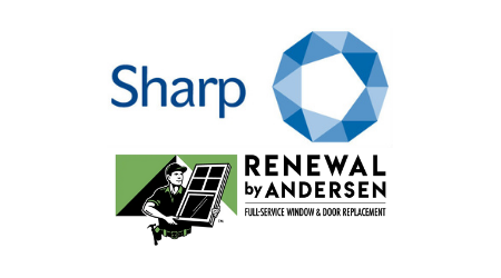 Sharp Clinical & Renewal by Andersen logos