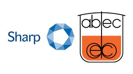 Sharp logo and ABEC logo