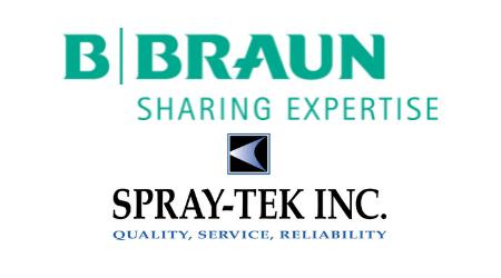 B. Braun and Spray-Tek logos