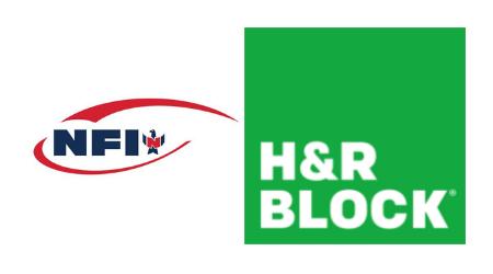 NFI and H&R Block logos