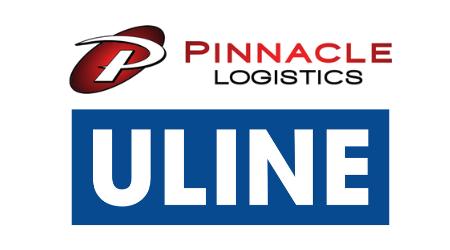 Pinnacle Logistics & Uline logos