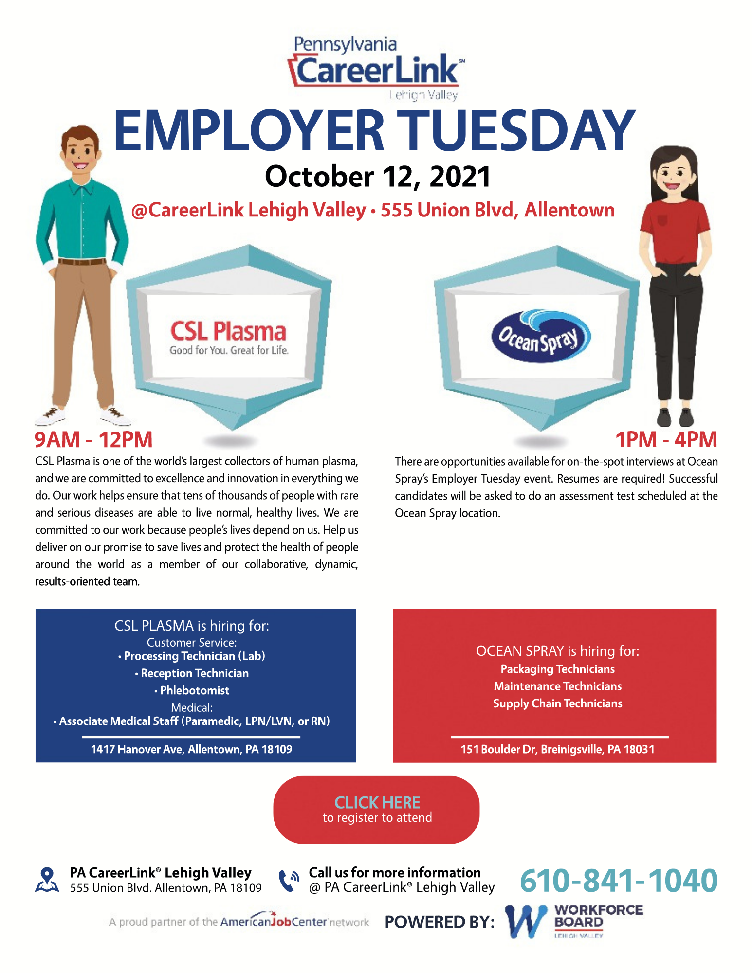 Employer Tuesday October 12 flyer